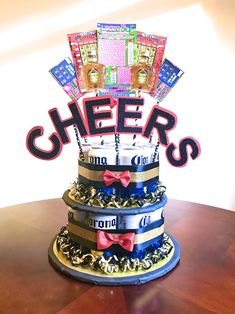 7 Top Risks Of Beer Can Wedding Cake - 7 Top Risks Of Beer Can Wedding Cake - beer can wedding cake Cake In A Can, How To Make Cake, Beer Wedding, Wedding Cake, Beer Can Cakes, Beer Basket, Corona Extra, Alcohol Gifts, Gift Cake