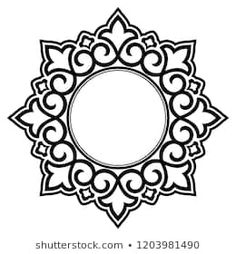Decorative frame Elegant vector element for design in Eastern style, place for text. Floral b. Decorative frame Elegant vector element for design in Eastern style, place for text. Lace illustration for invitations and greeti. Mandala Painting, Mandala Art, Motifs Islamiques, Decorative Lines, Decorative Borders, Islamic Art Pattern, Mandala Coloring Pages, Celtic Designs, Stencil Designs
