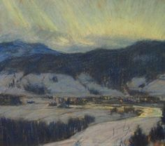 Clarence A. Gagnon Northern Lights, Baie St. Paul, n.d.