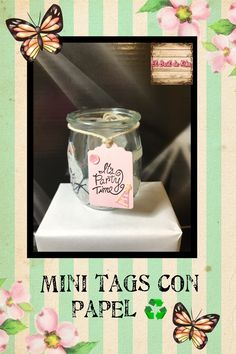 Minitags/etiquetas con papel ♻️