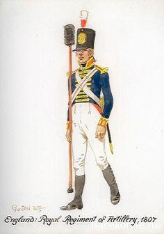 BRITISH ARMY - Royal Regiment of Artillery 1807