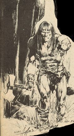 Cap'n's Comics: A Conan Pencil by Neal Adams