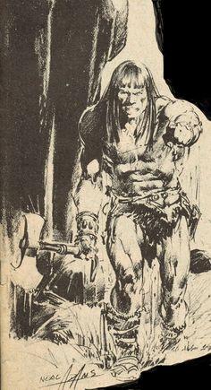 Cap'n's Comics: A Conan Pencil by Neal Adams