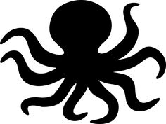Find images of Octopus+Silhouette. Silhouette Clip Art, Animal Silhouette, Silouette Art, Easy Crafts To Make, Diy Crafts, Halloween Crafts, Halloween Labels, Halloween Halloween, Halloween Pumpkins
