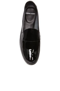Pierre Hardy Classic Patent Calf Loafers in Black