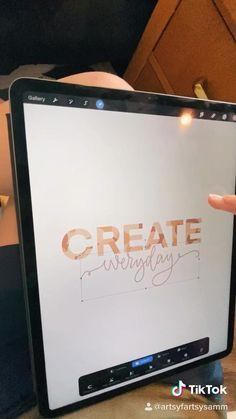 Digital Painting Tutorials, Digital Art Tutorial, Lettering Tutorial, Hand Lettering, Design Tutorials, Art Tutorials, Digital Art Beginner, Ipad Hacks, Ipad Art