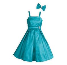 f4bc64e6f72 Aqua Shimmer Taffeta Dress with matching hair bow.A Wooden Soldier  exclusive graduation dress.