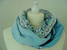 Weiteres - Loop JanuarKristall Batik und Spitze - ein Designerstück von hofatelier-mode bei DaWanda