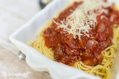 This post is sponsored by Foodie.com, but all opinions are my own. It is your lucky day. I'll tell you why — today I am sharing my meat sauce recipe. I know what you're thinking. Everyone has a meat s