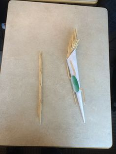 Creating something out of almost nothing.  Wands out of toothpicks.