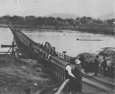 Old Pontoon Bridge at Dardanelle, Arkansas