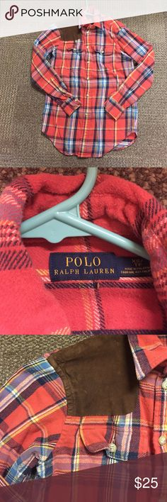 Ralph Lauren flannel shirt Very warm and cute Ralph Lauren flannel. It can fit an XS/s. Great condition! I just have too many flannel shirts and need to make more room in my closet :) open to offers! :) Ralph Lauren Tops Button Down Shirts