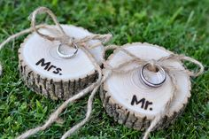 These Wood Slices would be perfect for your ring bearers to carry down the aisle, at your Rustic Woodland Wedding.
