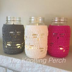 Dragonfly Mason Jar Cover Candle Holder Mason Jar