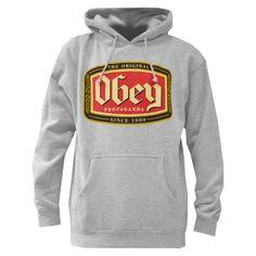 OBEY Original Lager sweat à capuche heather grey 75€ #obey #sweatcapuche #hoodie #hoody #hoodies #fleece #skate #skateboard #skateboarding #streetshop #skateshop @PLAY Skateshop