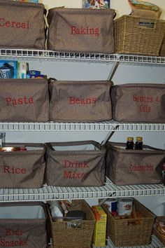 Get your pantry organized with our Square Utility Totes! Just $24 each w/o embroidery.