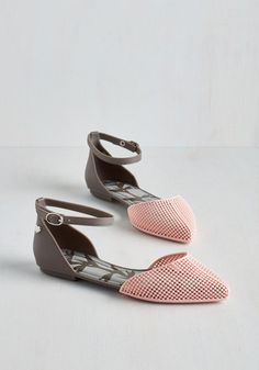 It's All in the Pastel Flat by Mel Shoes - Grey, Pink, Colorblocking, Better, Solid