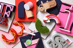 Creative Handmade 3D Letterforms Express Various Themes With Bright Visuals