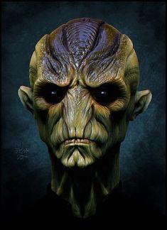 Flat nosed alien