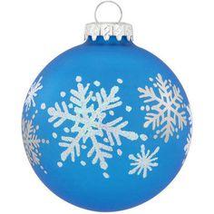 Snowflake Festival Glass Ornament