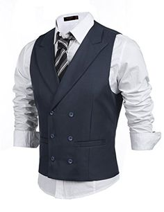 75837c968e8 Coofandy Men's Double Breasted Classic Formal Waistcoat S... https://www
