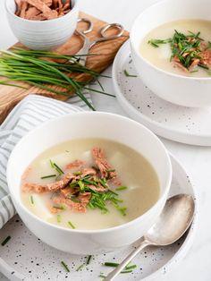 Mama's aspergesoep met schillen • Gewoon Hanne Ethnic Recipes, Food, Meals, Yemek, Eten