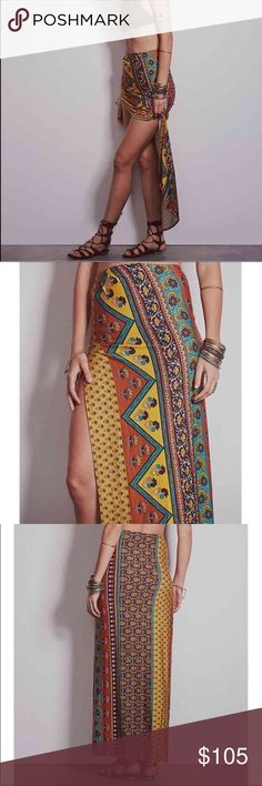 Novella Royale - Viva Printed Maxi Skirt NWOT Viva Printed maxi skirt with side slit from Novella Royale I bought at Free People. Ethnic Mustard color. I love this skirt, but it just isn't super flattering on me. New without tags. Length is approximately 43 inches. Size small. Retail price: $139.00 Novella Royale Skirts Maxi