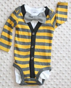 Smash Cake Outfit: Baby Cardigan Bow Tie Set