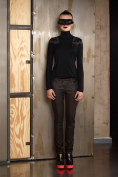 Lookbook AW2012/13 Praying Mantis, Contemporary Fashion, Fashion Labels, Shirt Dress, T Shirt, Skater Skirt, Leather Pants, Cold Shoulder Dress, Normcore