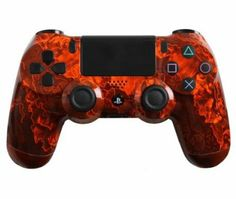 Amazon.com: Custom PlayStation 4 Controller Special Edition Orange Zombie Hazard Controller: Video Games #customcontroller #customps4controller #dualshock4 #ps4controller