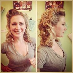 Want a #vintagestyle? Come see Rachael for all your #pinup #victory roll needs! (773) 252 - 9522 #chicagohairsalon