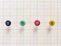 Numbered Push Pins