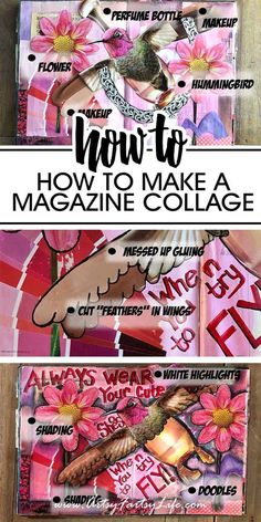 If you have ever wondered how to make one of those cool pieces of art using magazine clippings, this is the post for you! Tips, ideas and inspiration for using cutout images to make neat combined artwork. Magazine Collage, Rolled Magazine Art, Collage Art Mixed Media, Collage Artwork, Wall Collage, Paper Collages, Collage Ideas, Art Ideas, How To Make Magazine