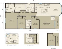 Champion manufactured home floor plans champion modular for Adobe style mobile homes