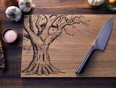Personalized Cutting Board, Custom Cutting Board - Christmas Gift, Wedding Gift, Anniversary Gift - Engraved Wood Cutting Board