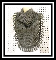 Gray Crochet Scarf Crochet Triangle Scarf Womens Fashion Scarf Crochet Lace Scarf Lace Fringe Scarf Tie Scarf Gray Scarf  CENTIPEDE by strawberrycouture on Etsy  Gray Crochet Scarf Crochet Triangle Scarf Womens Fashion Scarf Crochet Lace Scarf Lace Fringe Scarf Tie Scarf Gray Scarf  CENTIPEDE (35.00 USD) by strawberrycouture on Etsy http://ift.tt/1MtiUab (Unique Womens Crochet & Knit Hats Scarves Patterns) Strawberry Couture on Etsy is about having fun with a crochet hook and knitting…