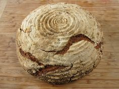 UPDATE: I have completely revised this recipe--thanks to Dana Morgan for testing and input! In the interest of health, I've focused my bread baking obsession of late on 100% or near 100% whole rye sourdough loaves.