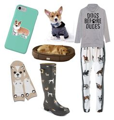 """""""Dogs Not Dudes"""" by lilstarry ❤ liked on Polyvore featuring Corgi, Joules, STELLA McCARTNEY, Ultimate and Max-Bone"""