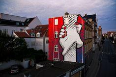 Urban interventions: street art by chifumi krohom - inspiration grid design Murals Street Art, Mural Art, Street Art Graffiti, Wall Art, Web Design, Grid Design, Urban Design, Urban Intervention, Urbane Kunst