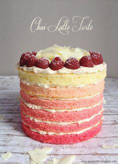 Chai Latte Cake, Chai-Latte-Torte, Ombre Cake