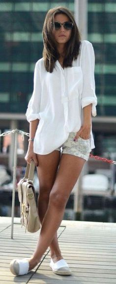 The Best Simple Fresh Outfits Ideas For Summer 35 Fresh Outfits, Short Outfits, Summer Outfits, Casual Outfits, Mode Outfits, Fashion Outfits, Cheap Fashion, Fashion Women, Oversize Look