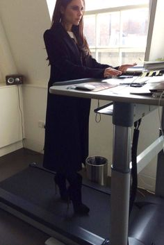 Victoria Beckham Takes on the Treadmill Desk in 5-Inch Heels