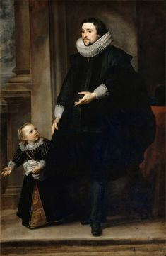 Anthony van Dyck - Portrait of a man of quality and his son