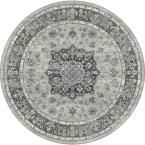Ancient Garden Silver/Grey 7 ft. 10 in. Round Area Rug #AreaRugs