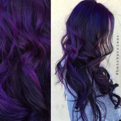 Hair color by #hairbycrisss #hair #purple #joico #hairart #art #purplehair #mermaid #mermaidhair #longhair
