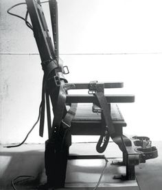 """""""Old Sparky"""" electric chair at Sing-Sing Prison, Ossining, NY--first used in 1891"""
