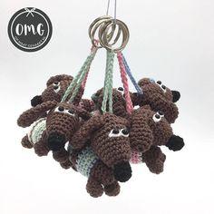Crochet Elephant, Crochet Fox, Crochet Dolls, Easy Crochet, Free Crochet, Knitting Projects, Crochet Projects, Crochet Easter, Crochet Keychain