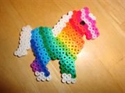 Horse (could be unicorn) Perler bead craft for birthday party activity