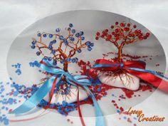 miniature wiretree with beeds   δεντράκια από σύρμα με χάντρες