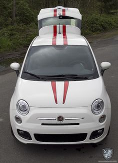 Custom Racing Stripe Install on new Fiat 500